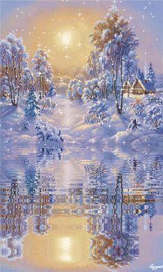 Christmas Scenes, Christmas Images, Christmas Art, Vintage Christmas, Cute Christmas Gifts, All Things Christmas, Winter Images, Winter Love, Winter Scenery
