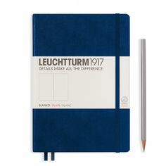 Leuchtturm1917 Notebook, hardcover, 2 bookmarks, navy blue, 249 numbered pages