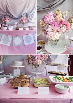 Pink and Gray Wedding Shower