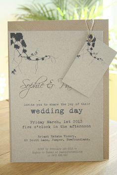 vineyard wedding invitations, winery wedding invitation, grapevine, Wedding invitations