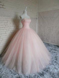 Pink Ball Gown Beading Prom Dress,Long Prom Dresses,Charming Prom Dresses,Evening Dress, Prom Gowns, Formal Women Dress,prom dress