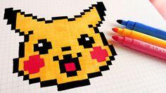 Handmade Pixel Art - How To Draw Cute Pikachu #pixelart
