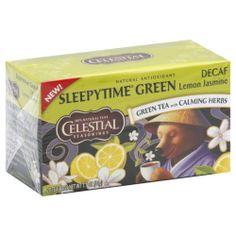 Celestial Seasonings Sleepytime Green Lemon Jasmine Decaf Tea Bags Pack of 6 Review Buy Now
