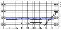 Узор 648 объемная коса для шапки| каталог вязаных спицами узоров