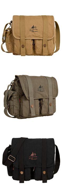 8dbef014516b 38    High quality canvas Men s Vintage Canvas Shoulder Messenger Hiking  Tool Bag Satchel