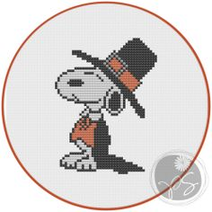 Snoopy Thanksgiving cross stitch pattern