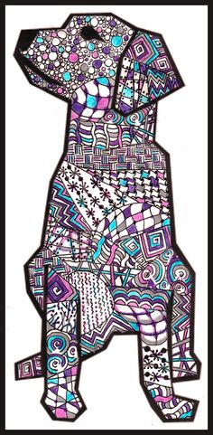 Clip art dog - - Zentangle stuff