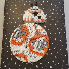 BB-8 Star Wars VII original perler bead design by michelly_bee