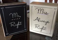 Mr & Mrs Blocks decorations