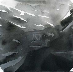 GRISAZUR: Acuarela sobre papel, 14x14 cm.Nov. 13, 2016