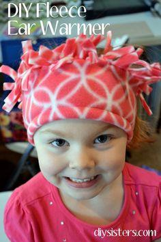 Fleece Christmas Gifts- Fleece headband ear warmer {diysisters.com}