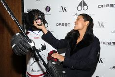 Rosario Dawson attends the U.S. launch of Moose Knuckles at Dream Downtown on October 20, 2014 in New York City.