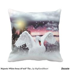 Majestic White Swan Set of 6 Coasters Celtic Fantasy Art, Viking Designs, White Swan, Photo Magnets, Drink Coasters, Decorative Throw Pillows, Digital Art, Artwork, Prints