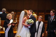 kiss the bride  Wedding at Arlington Heights United Methodist and The Fort Worth Club