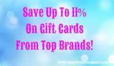 This is a sponsored post byTatu Digital Media. Regardless of this these are solely are own opinions. We all love to save a couple of dollars on the things we need to and even on those things we want to spoil ourselves with as well. I am a huge fan of buying discount gift cards [...]