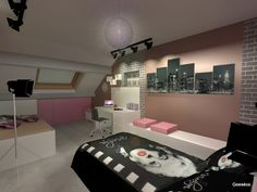 1000 images about rendus chambres on pinterest dressing - Deco chambre ado new york ...