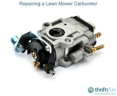 This is a guide about repairing a lawn mower carburetor. A common cause of a lawn mower not starting lies with the carburetor. Lawn Mower Maintenance, Lawn Mower Repair, Lawn Mower Blades, Engine Repair, Outdoor Tools, Small Engine, Motorcycle Accessories, Modern Design, Engineering