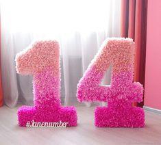 14th Birthday Party Ideas, Birthday Games, Birthday Numbers, Happy Birthday Me, Birthday Parties, Creative Self Portraits, Decoration Evenementielle, Birthday Balloon Decorations, Baby Milestone Cards