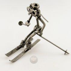 Schraubenmännchen Skiläufer