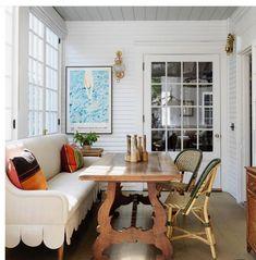 Furniture Styles, Home Furniture, Breakfast Nook Bench, 1920s House, Dining Nook, Kitchen Nook, Interior Inspiration, Design Inspiration, Design Ideas