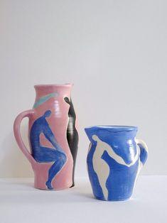 Tendance Déco 2021 : Couleurs, Matières, Idées, Inspirations Pottery Painting Designs, Pottery Designs, Pottery Ideas, Ceramic Painting, Ceramic Art, Ceramic Bowls, Ceramic Jewelry, Ceramic Mugs, Ceramic Pottery
