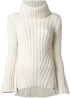 Everyone loves a cosy sweater. Shop our designer knitwear for women at Farfetch. Thick Sweaters, Sweaters For Women, Knit Sweaters, Alexander Mcqueen Clothing, Ribbed Sweater, Ribbed Top, Rib Knit, Cool Style, Couture