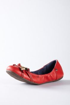 Calisa Tumble Calf Leather Flat