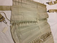 Inside view of pregnancy corset. Tinne collection world museum