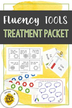 Great speech therapy activity to help students decease stuttering and achieve more fluency!  They love thinking of their speech as tools to help them stay smooth.