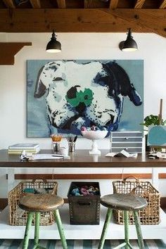"""The original pinner wanted to have a large photo of pet on wall.  An earlier pinner wrote:  """"Staples does oversized prints called """"engineer prints."""" The largest size is 3' x 4' and they cost only $4.99!!""""  [ pinned from: http://www.pinterest.com/source/infarrantlycreative.net   ]"""