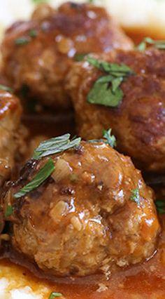 Salisbury Steak Meatballs (Instant Pot, Stove Top, Slow Cooker)