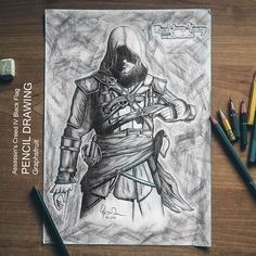 . _________________________ Assassin's Creed IV Black Flag   Pencil Drawing Time: ~9-10h Pencils: HB   3B   8B Graphite Pencils HB Mechanical Pencil Like my FB Page: Graphsfruit Follow me on Behance: Andrew C. (graphsfruit) ________________________ Copy&Paste stars & comment to  RATE MY WORK ★★★★★ ★★★★☆ ★★★☆☆ ★★☆☆☆ ★☆☆☆☆ ________________________  #assassinscreed #instadraw #pencildrawing #drawingoftheday #artist #fineart