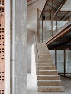 AMAA Architecture has built their own raw & robust but delicately detailed office set within a former factory in the industrial town of Arzignano, Italy. Architecture Office, Contemporary Architecture, Industrial Architecture, Lofts, Turin, Area Urbana, Industrial Sheds, Industrial Design, In Dubai
