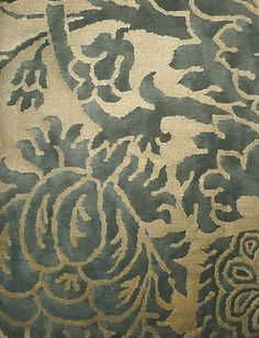 FORTUNY Barberini Grey Silvery Gold Long Staple Cotton Italy New
