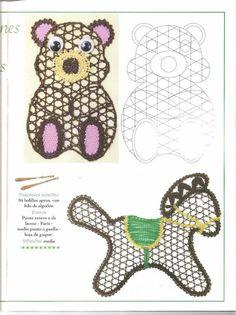 renda de bilros / bobbin lace animais / animals - from Álbumes web de Picasa…