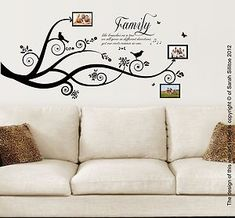 diy+family+tree+murals | Family Tree Bird, Family Quote, Vinyl Wall Art Stickers Decal Murals ...
