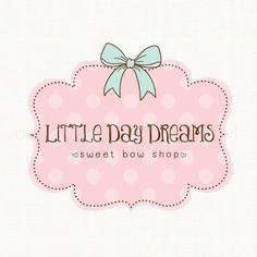 Bow Shop Logo Bespoke Logo Design Boutique by stylemesweetdesign