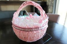 If you want to make a basket completely from scratch, you'll need three rolls of yarn, a blown up balloon and warm sugar water to bring this pretty pink basket to life.  Get the tutorial from Centre Street Style »