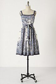 Delft dress: Anthropologie