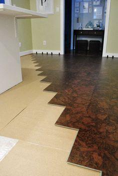 Cork flooring info from Young House Love Cork Flooring, Parquet Flooring, Bathroom Flooring, Kitchen Flooring, Hardwood Floors, Flooring Ideas, White Flooring, Farmhouse Flooring, Natural Flooring
