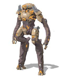Science Fiction Illustration Sci Fi Robots New Ideas Character Concept, Character Art, Character Design, Cyberpunk Rpg, Sci Fi Armor, Robot Concept Art, Mecha Anime, Robot Design, Ex Machina
