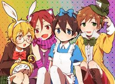 Free! crossed with Alice in Wonderland, if Rei was in there, he would be the caterpillar thing smoking the pipe