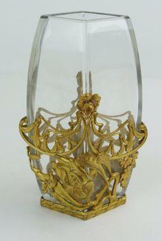ORMOLU AND CUT GLASS VASE