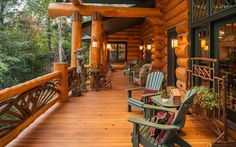 Log Homes and Cabins. View photos of gorgeous log home interiors as a source of design inspiration. Log home kitchens, bedrooms and great rooms.