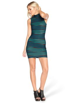 Tape Teal High Neck Toastie Dress - LIMITED