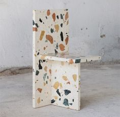Terrazzo Tiles - The Flooring From Ancient Times Seen His Comeback Design Furniture, Unique Furniture, Contemporary Furniture, Chair Design, Diy Furniture, Thelma Et Louise, Industrial Office Chairs, Terrazzo Tile, Furniture Inspiration