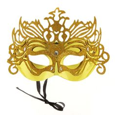 Sexy Mysterious Gorgeous Gold Mask for #Halloween Masquerade $2.85 only.