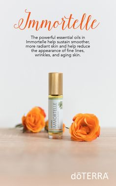 doTERRA's Immortelle blend helps sustain smoother, more radiant, and youthful-looking skin with these powerful essential oils.