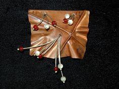 Fold Formed Copper Brooch by judyfreyerthompson, via Flickr