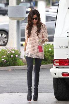 2011 > Ashley at a gas station
